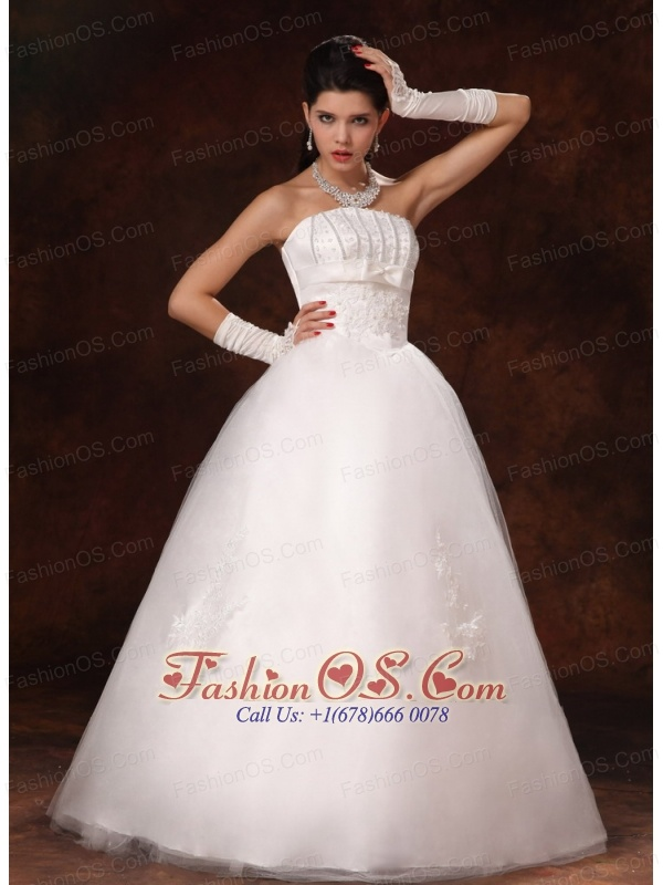 Custom Made Strapless Floor-length With Beading For 2013 New Style Wedding Dress In Biloxi