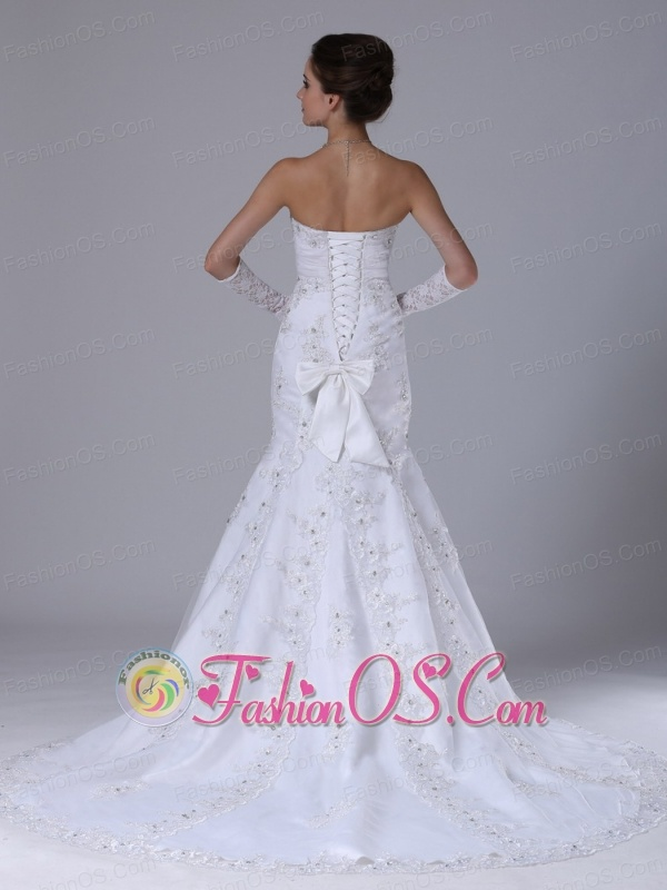 Lace With Beading Wedding Dress Beading Sweetheart Mermaid Court Train
