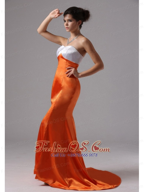 Mermaid Sweetheart Organge Red For 2013 Evening Dress In Cardiff by the Sea California