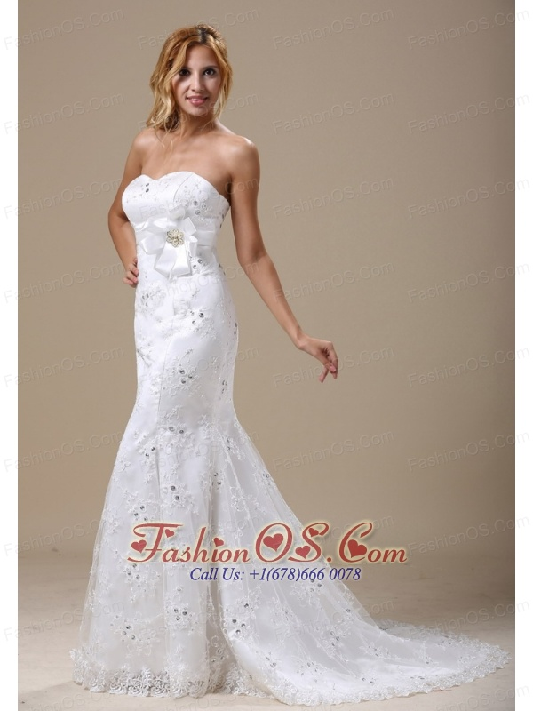 Mermaid wedding dress in denver colorado with sash and for Wedding dresses denver co