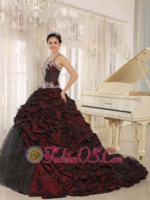 Special Fabric Pick-ups Spagetti Straps Appliques Decorate Quinceanera Gowns In Mar del Plata