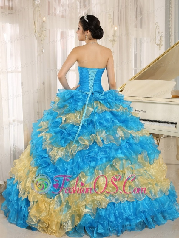 Stylish Multi-color 2013 Quinceanera Dress Ruffles With Appliques Sweetheart In Neuquén
