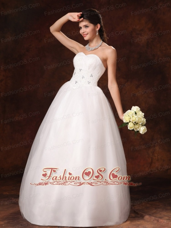 Sweetheart Beaded 2013 New Arrival A-Line Church Wedding Dress With Lace-up In Mobile Alabama