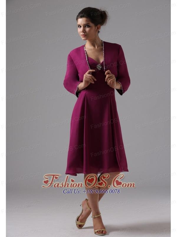 Sweetheart Burgundy Bridesmaid Dress Chiffon In Capitola California With Knee-length
