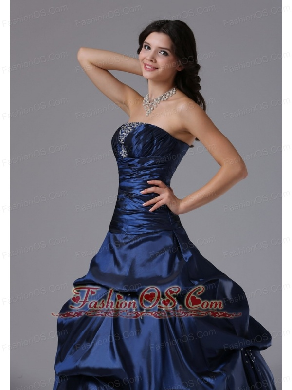 Beaded Decorate Bust and Ruch Bodice For 2013 Military Ball Gowns In Chatsworth California With Pick-ups