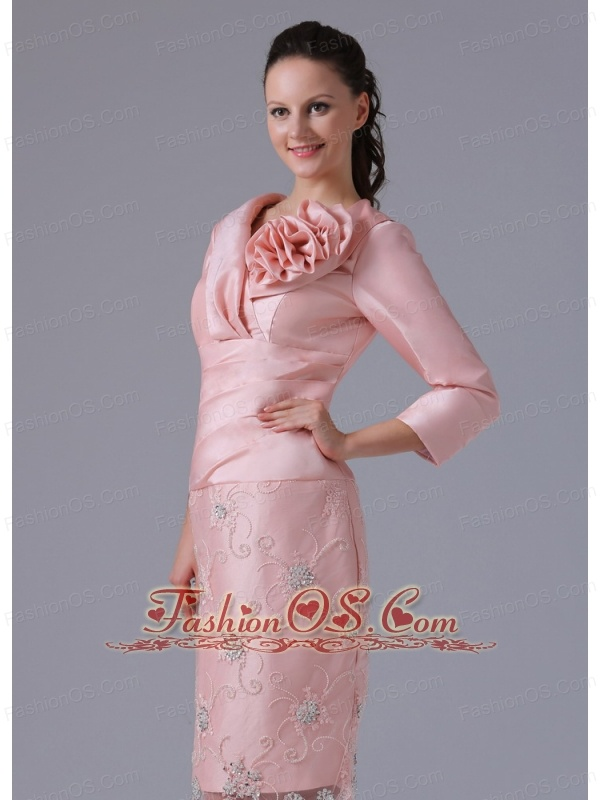 Pink Mother of the Bride Dresses Knee Lenngth