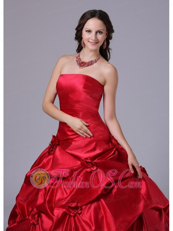 Wine Red Pick-ups Ball Gown Military Ball Gowns With Court Train In 2013