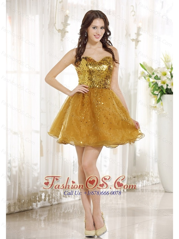... line Mini-length Sweetheart Neckline Prom / Homecoming Dress For 2013