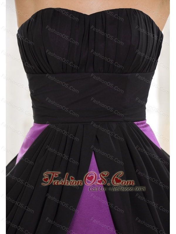 Sweetheart Neckline Taffeta and Chiffon Purple Mini-length 2013 Prom / Homecoming Dress