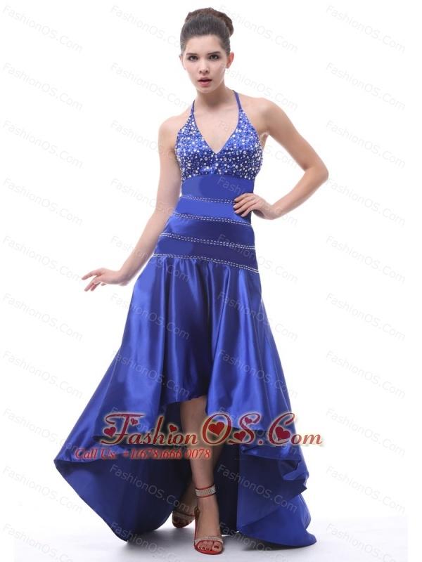 High low royal blue prom dresses 2013