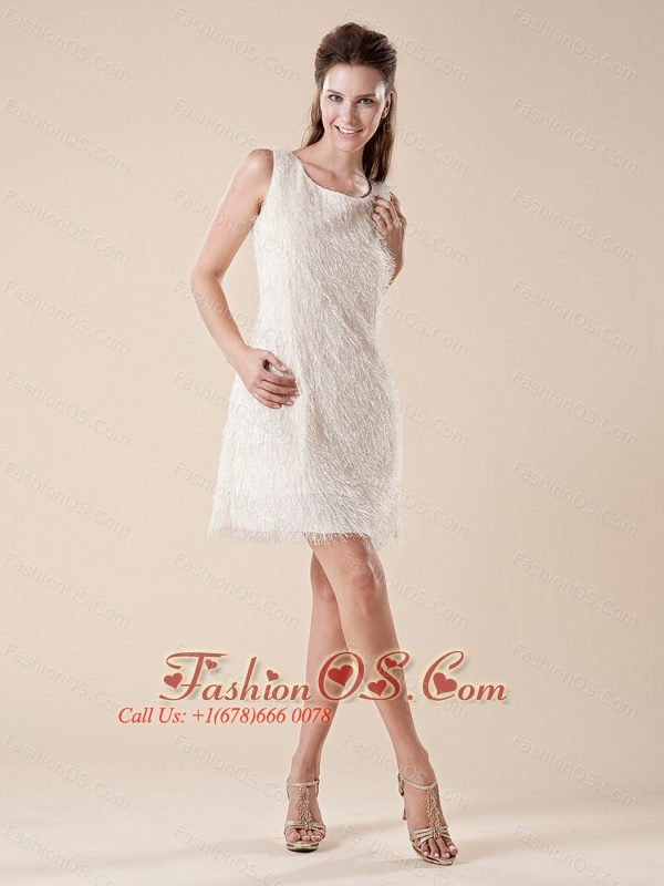 2013 Scoop Feather Mini-length Empire Cocktail Dress For Party