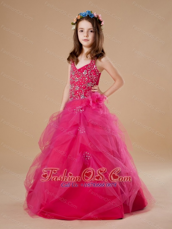hot pink flower girl dress № 139483