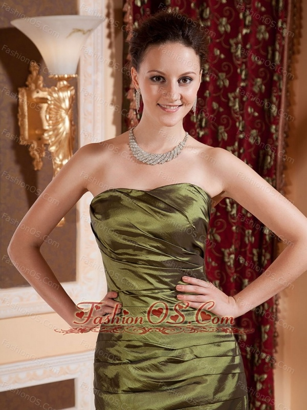 Mermaid Olive Green and Bodice Bodice For Prom Dress- $138.99
