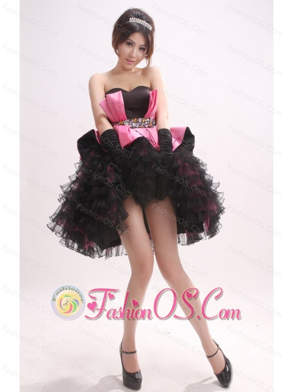 Sweetheart and Ruffled Layers For Short Prom Dress With Beaded Decorate Waist