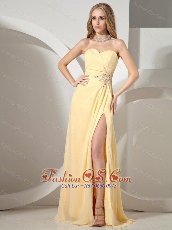 Yellow Sweetheart Dress