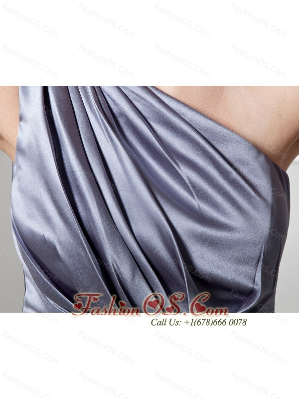 Beaded Decorate Waist One Shoulder Grey Ankle-length 2013 Prom / Evening Dress