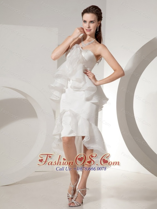 White Organza Mermaid Wedding Dress