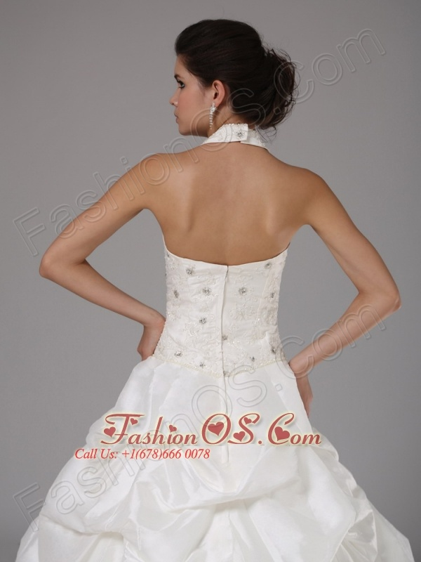 Custom Made Halter Lace Bodice and Pick-ups For Wedding Dress