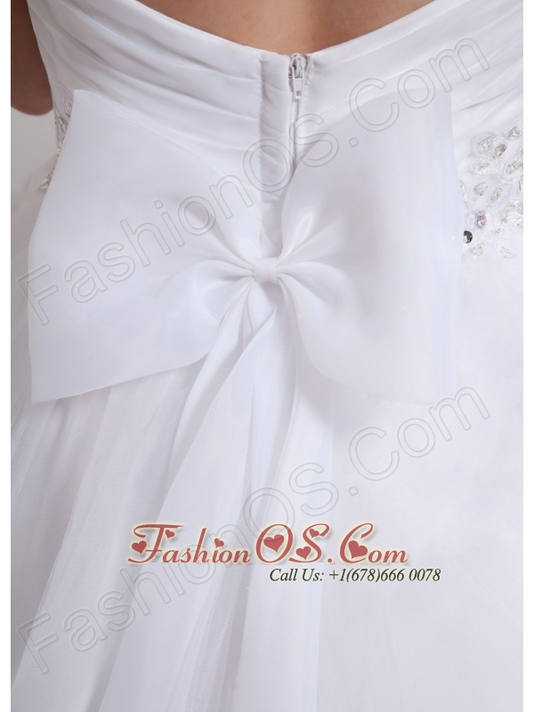 Custom Made Princess Sweetehart Beading Wedding Gowns With Tulle