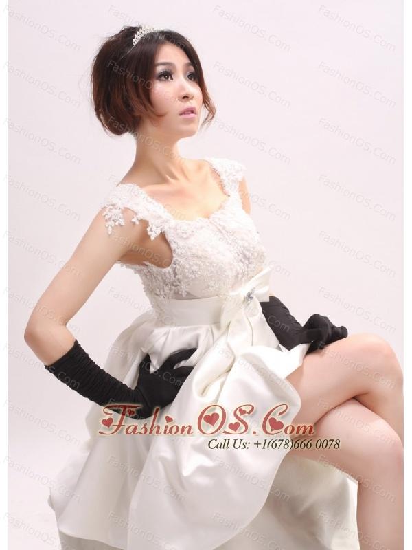 Straps Bowknot For Custom Made Wedding Dress