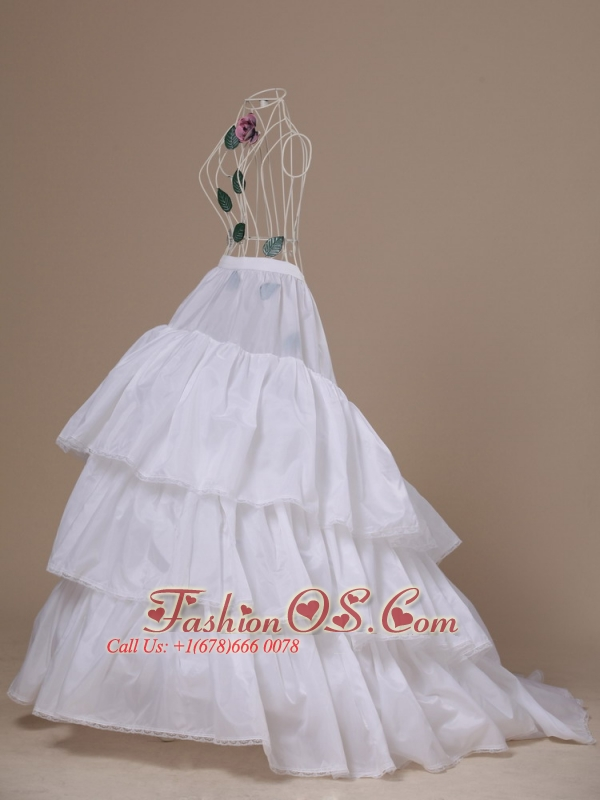 Hot Selling Taffeta Brush Train Wedding Petticoats