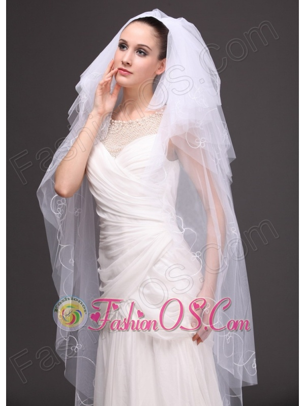 Embroidery With Tulle Bridal Veil On Sale