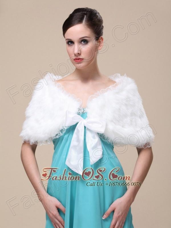 Faux Fur Special Occasion/ Wedding Shawl