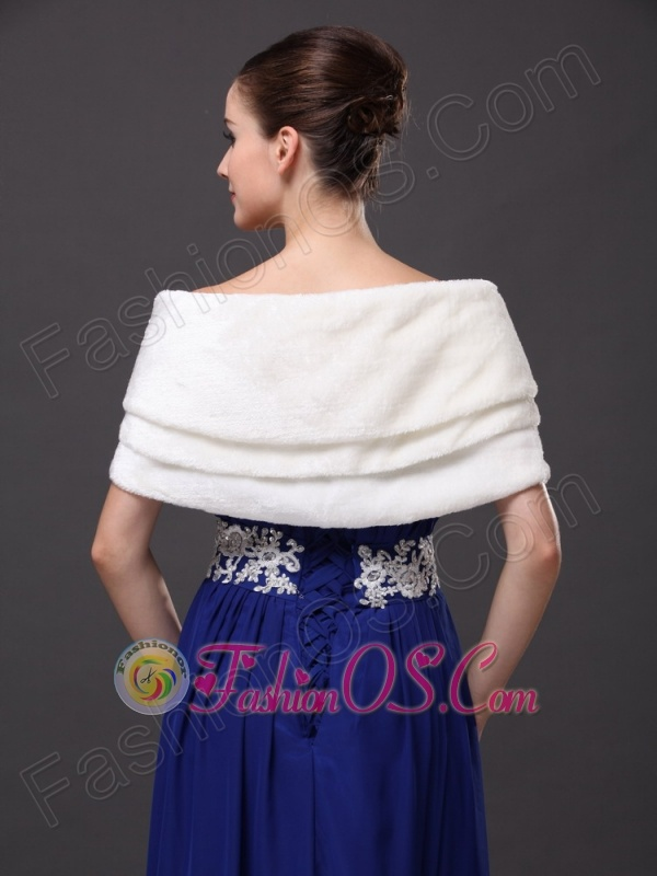 Genuine Bowknot Off Shoulder White Prom Wraps / Shawls