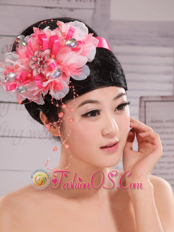 Imitation Pearls and Rhinestones Decorate Headpieces For Prom and Wedding Party