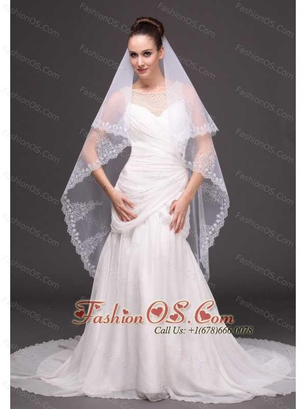 Lace Tulle Fashionable Bridal Veils For Wedding