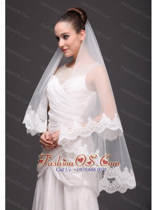 Lace With Two-tier Tulle For Modest Wedding