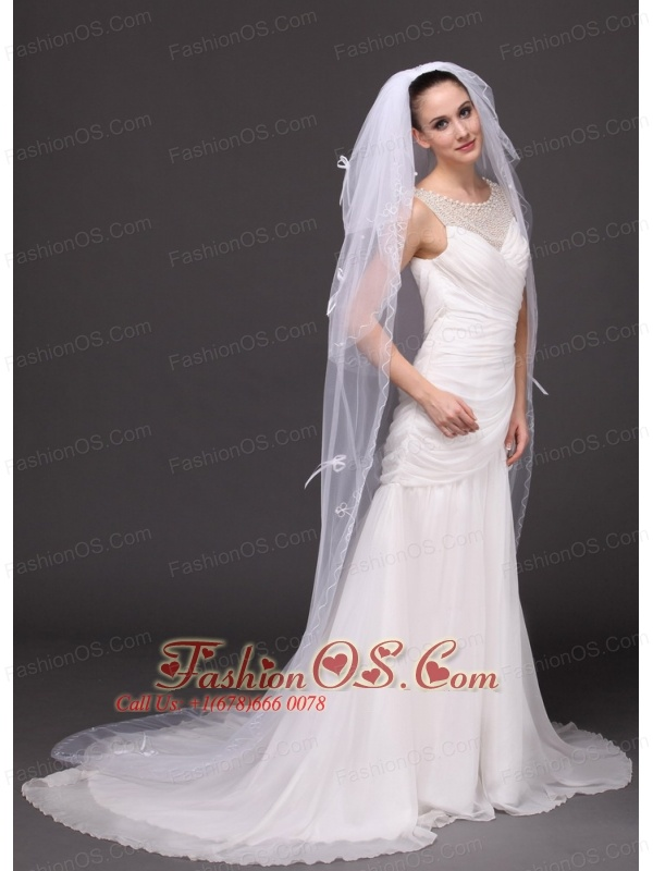 Three-tier Tulle Bridal Veil With Bowknots