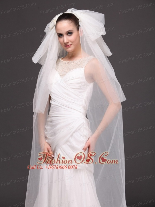 Tulle Four-tier Bridal Veils For Wedding