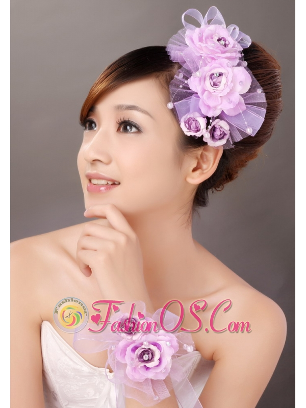 Formal Taffeta and Tulle Hand Made Flowers Women' s Fascinators For Party