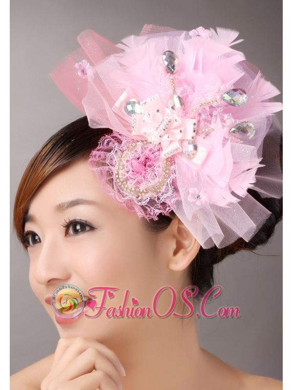 Sweet Tulle With Feather Beading Fascinators