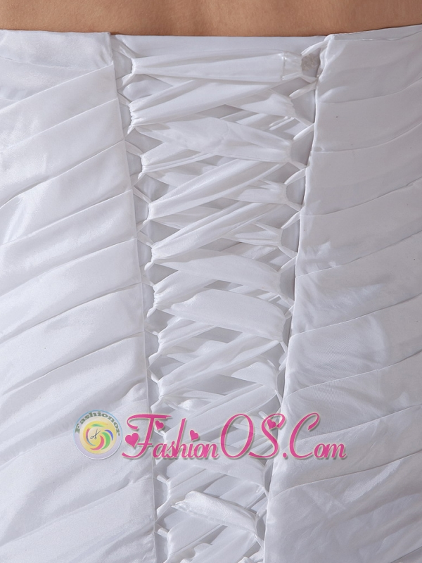 Ruched Bodice and Ruffles For Wedding Dress With Custom Made