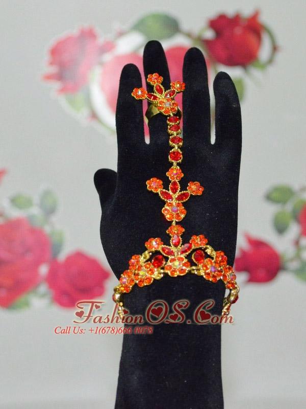 Beautiful Orange Bracelet And Ring