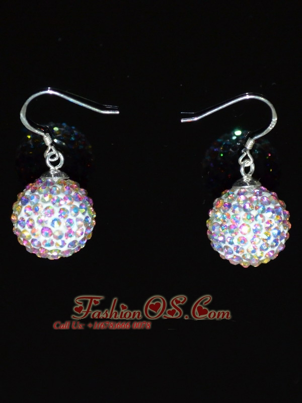 Popular Multi-color Round Rhinestone Earrings