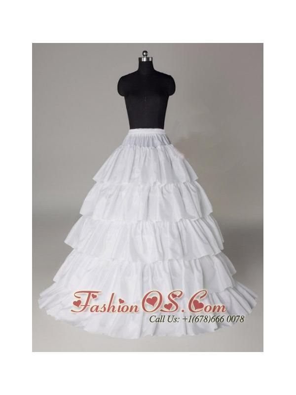 Hot Selling Taffeta Five Layers Floor-length Wedding Petticoat