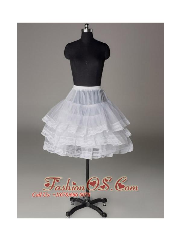 Three Layers Lace Edge Mini-length Petticoat