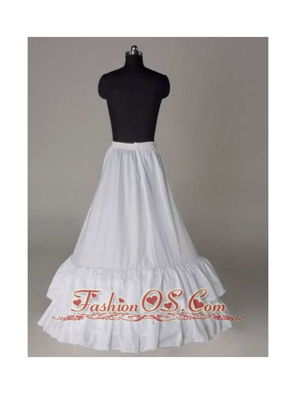 Two Layers A-line Taffeta Floor-length Petticoat