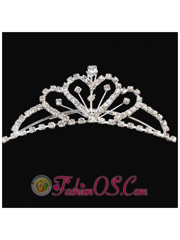 Princess Tiara With Shining Rhinestones