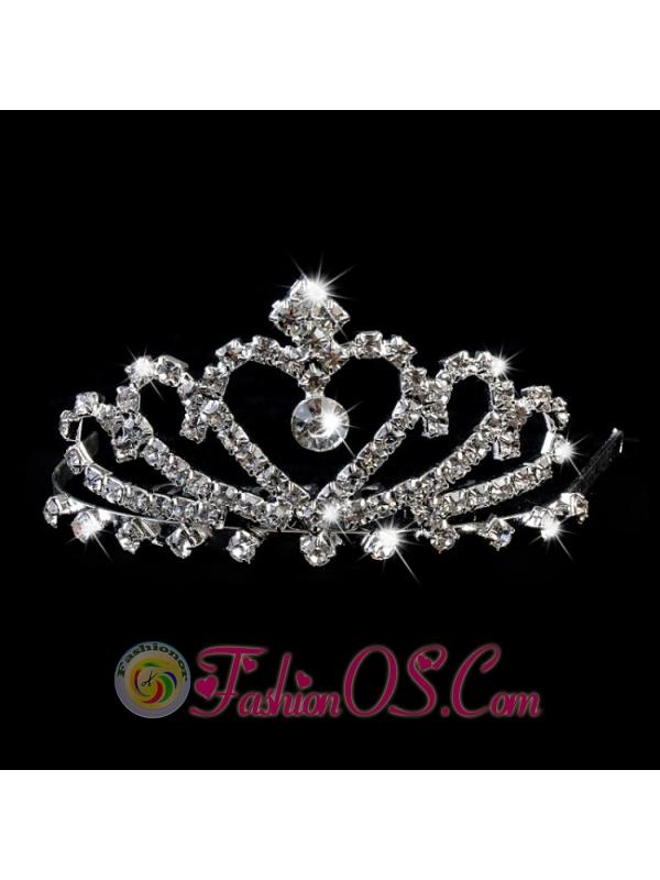 Pretty Princess Tiara With Rhinestones