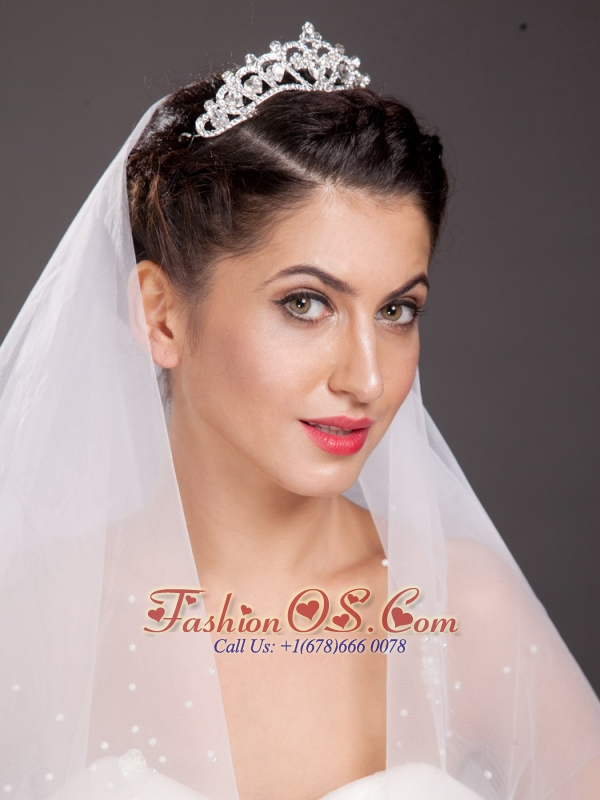 Pretty Alloy With Crystal Adorned Tiara
