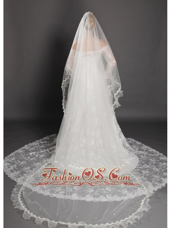 Beading Tulle Graceful Wedding Veils
