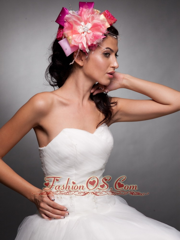 Colorful Beaded Hand Made Flowers Headpieces