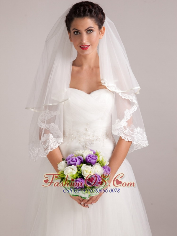 Colorful Purple And White Hand-tied Wedding Bridal Bouquet