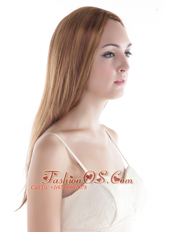 Elegant Blonde Long Silky Straight Human Hair Wig