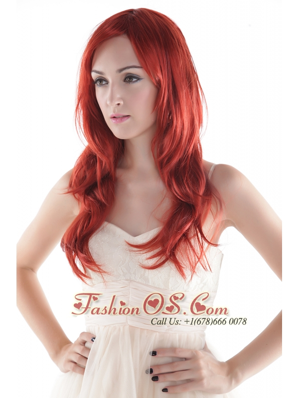 Fashionable Extra Long Synthetic Wavy Hair Wig