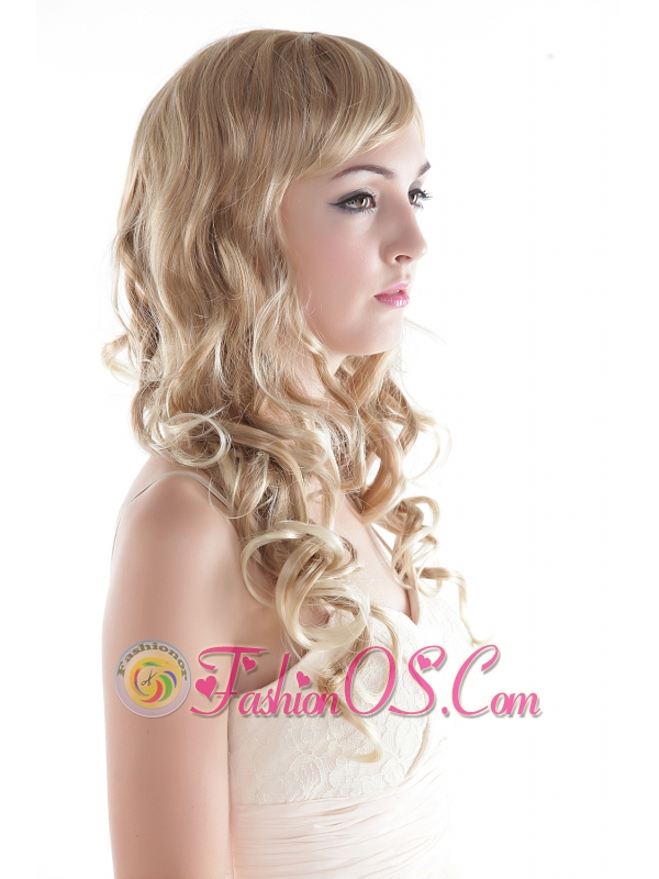 Long High Quality Synthetic Blonde Curly Hair Wig